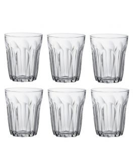 Set of 6 Tumblers Clear Glass 220ml from the Provence Range