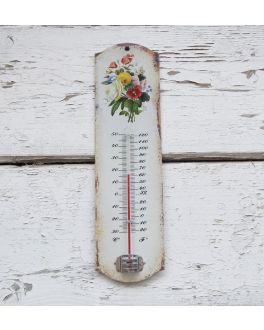 Decorative Floral Wall Thermometer