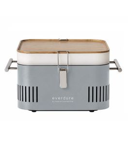 Cube Portable Charcoal BBQ Barbeque Grill in Stone