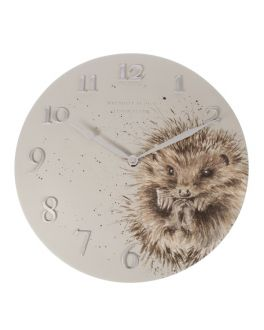 Hedgehog Illustrated Wall Clock by Hannah Dale