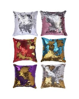 Reversible Two Way Sequin Cushion