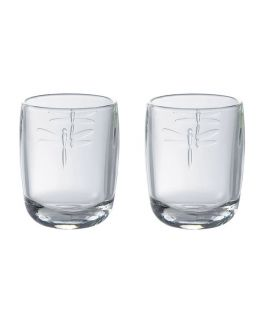 Libellules Dragonfly Set of 2 Glasses Tumblers 28cl from La Rochere