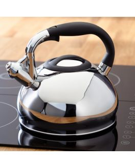 Stainless Steel 3 Litre Induction Stove Top Electric Gas Whistling Kettle