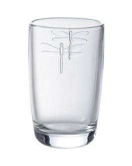 Glass Hiball Tumbler with Dragonfly Design