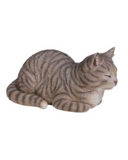 Detailed Dreaming Tabby Cat Ornament