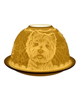 Westie Dogs, Light-Glow Tealight Candle Holder