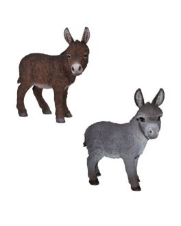 Detailed Real Life Donkey Ornament in Brown / Grey