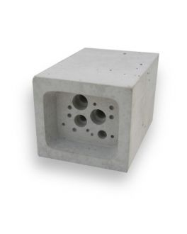 Small Bee Block Concrete Solitary Bee Nester by Green & Blue