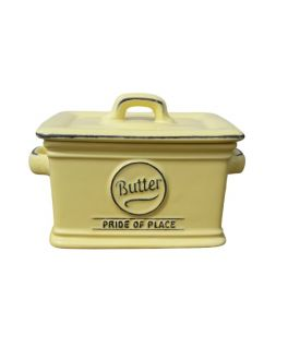 T&G Soft Yellow Pride of Place Butter Dish