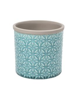 Small Teal Blue Tuscany Indoor Ceramic Plant Pot