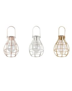 Eureka Firefly Solar Lantern Set of 3 in Silver, Rose Gold & Copper