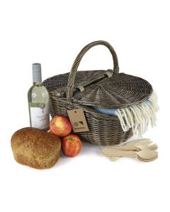 Oval empty picnic baskets ideal for a quick trip to the farm shop
