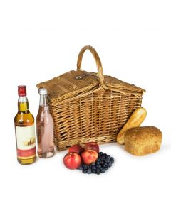 """Traditional Willow Wicker 16"""" Picnic Basket"""