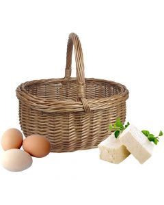 Willow Oval Small Shopping Basket