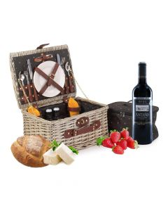 Deluxe Fitted Picnic Hamper for 2 People