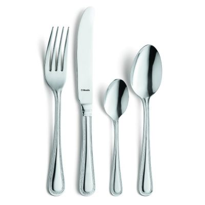 Modern Bead Polished Stainless Steel Cutlery Set 24 Piece