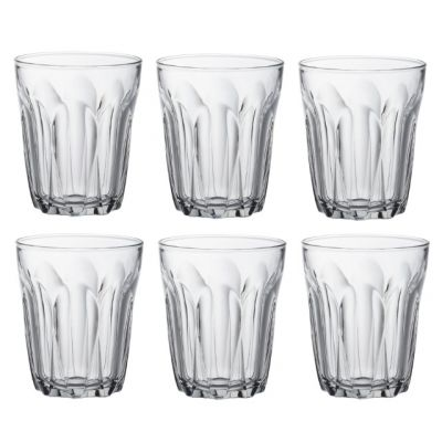 Set of 6 Tumblers Clear Glass 130ml from the Provence Range