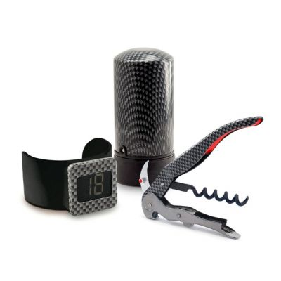 Barware Starter Kit inc. Corkscrew, Thermometer and Wine Saver from the Monza Range