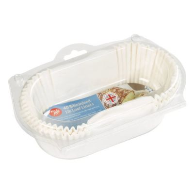 Siliconised 1lb Loaf Liners, Pack of 40