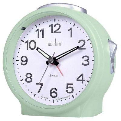 Elsie Sweep Analogue Alarm Clock with Luminous Hands and Silent Tick Duck Egg