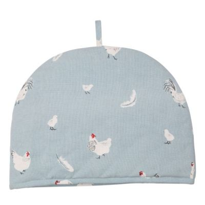 Rushbrookes Pecking Order Large Tea Cosy, Blue