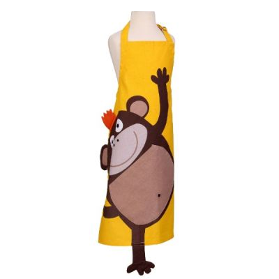 Cheeky Monkey Children's Apron in Yellow