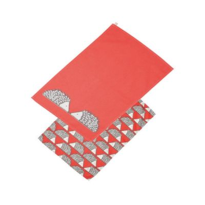 Red Spike the Hedgehog Set of 2 Tea Towels