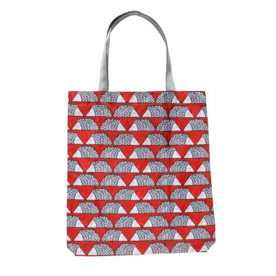 Reusable Shopping Bag in Red 'Spike The Hedgehog' Design
