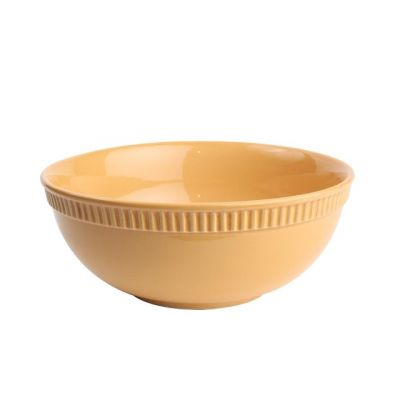 Colour by Numbers Large Stoneware Bowl in Ochre
