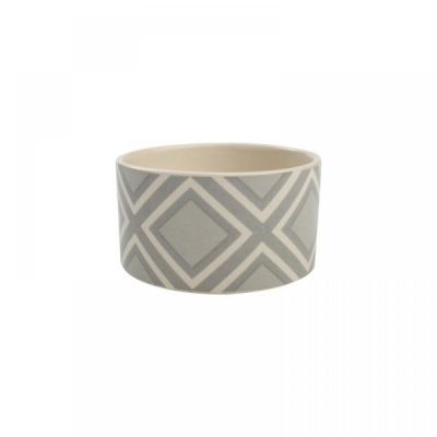 Square Design Dip Dish Bowl in Grey and White