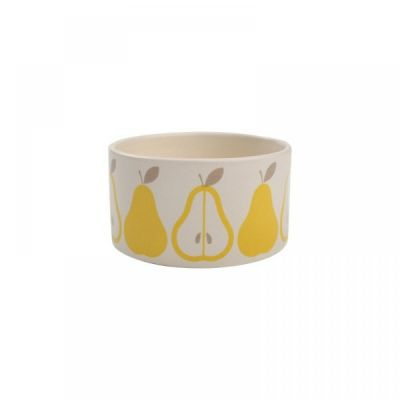 Pear Design Dip Dish Bowl in Yellow and Grey