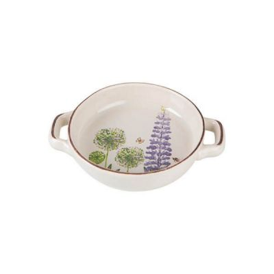 Cottage Garden Round Serving Snack Dish