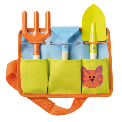 Kids Toolbelt With 3 Tools (Spade, Fork, Rake)