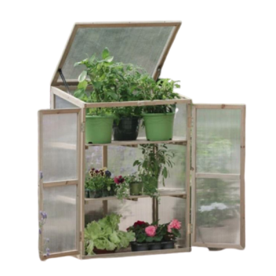 Grow It Wooden Growhouse With Three Shelves