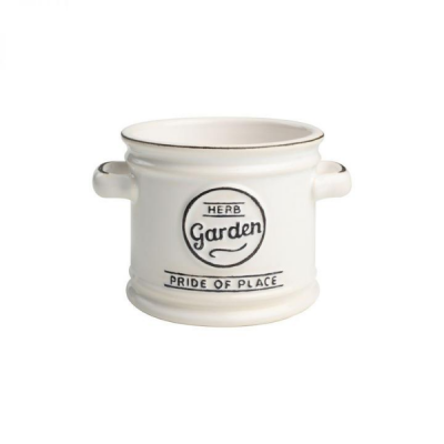 Ceramic Herb Pot in White by T&G Pride of Place Range