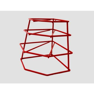 Plastic Coated 4 Tier Plate Stacker Drainer in Red