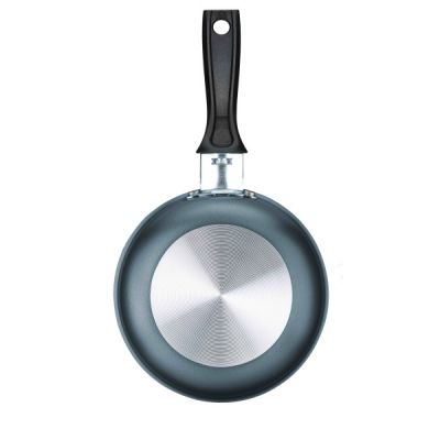 Small Blini Deep Frying Frypan Pan 13cm in Titanium Silver