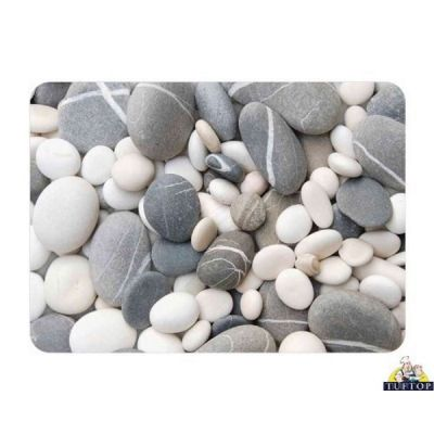 Small Glass Textured Worktop Saver In Stones Design