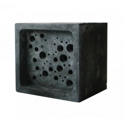 Charcoal Large Bee Block Concrete Solitary Bee Nester by Green & Blue