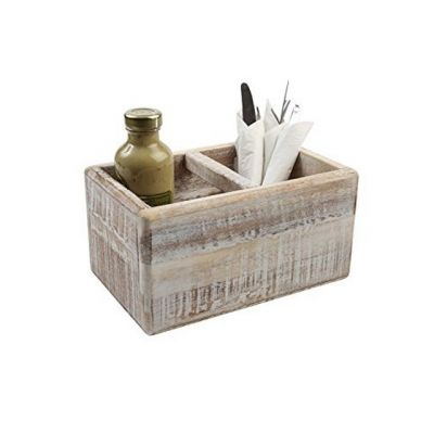 Deep Storage Table Trug in White Acacia Wood