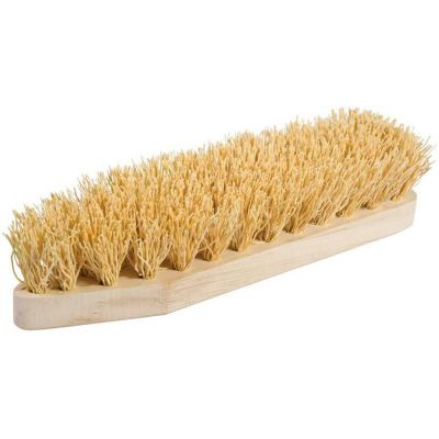 Extra Rice Root Scrub Brush with Untreated Beechwood Handle