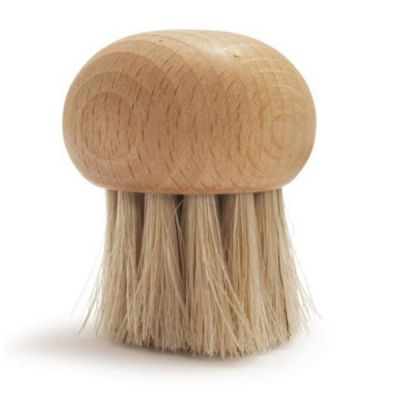 Wooden Mushroom Cleaning Brush with Round Head