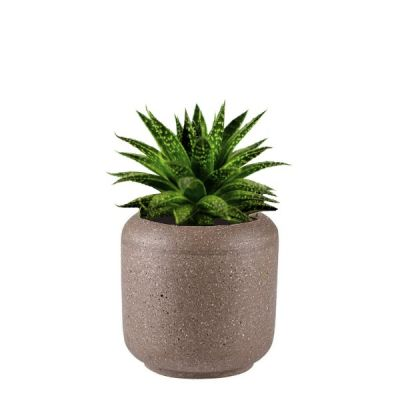 15cm Brown Polystone Planter Plant Pot from the Villa Collection Range