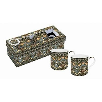 """Set of 2 China Mugs William Morris """"Strawberry Thief"""" from """"Art Around The World"""" Collection"""