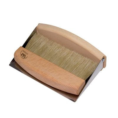 Tabletop Dustpan and Brush Compact Design