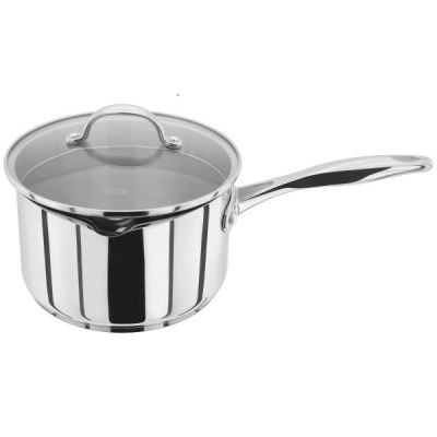 20cm Stainless Steel Draining Saucepan with Lid