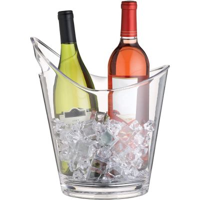 BarCraft Clear Acrylic Drinks Pail / Wine Cooler