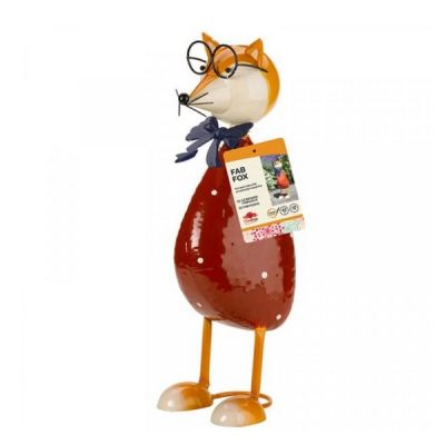 Outdoor Metal Fab Fox Garden Ornament