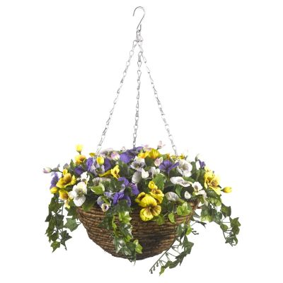 Flower hanging basket artifical flowers