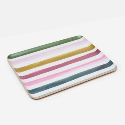 Joules Striped Serving Dinner Tray
